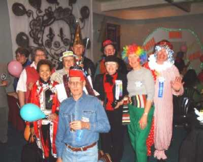 Takapuna group dressed for Circus night